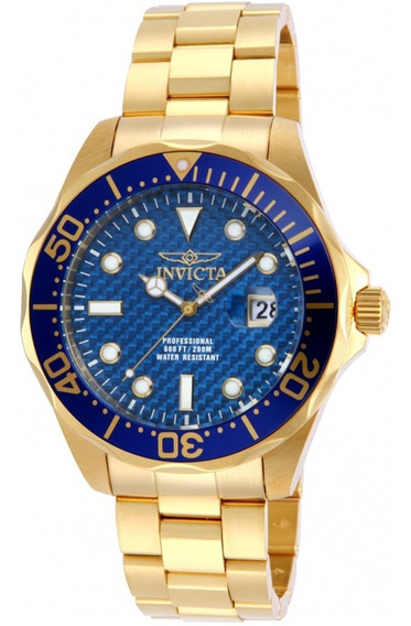 Relógio Invicta Dourado Pro 14357 Banhado A Ouro 18k