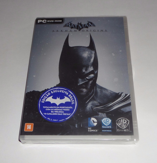 Batman: Arkham Origins Original Lacrado Mídia Física Pc