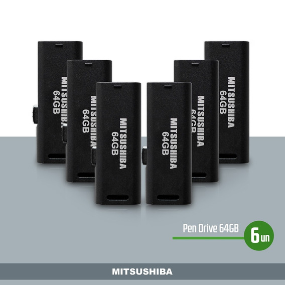 Kit Pen Drive 64gb 6pcs Mitsushiba