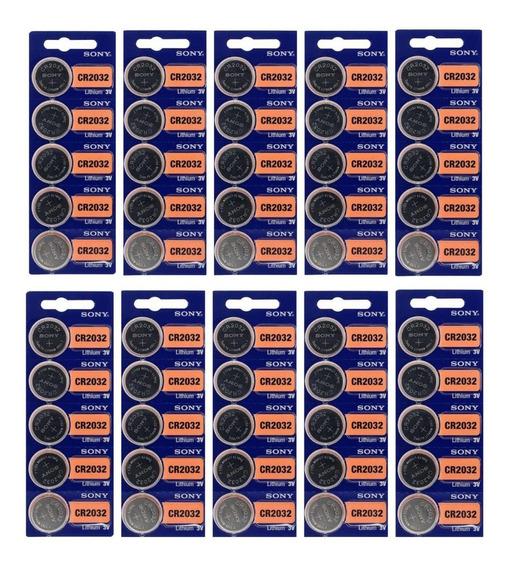 Kit 50 Bateria Sony Cr 2032 3v Lithium Unid Placa Mae