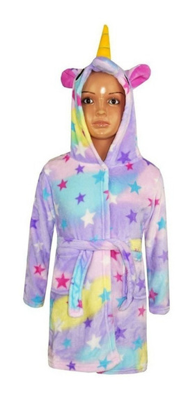 Bata Pijama Infantil Unicorn ® Unicornios Nena Arco Iris