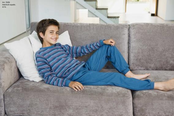Pijama Niño Kids Algodon - Pantalon Slim Fit - Art 765n