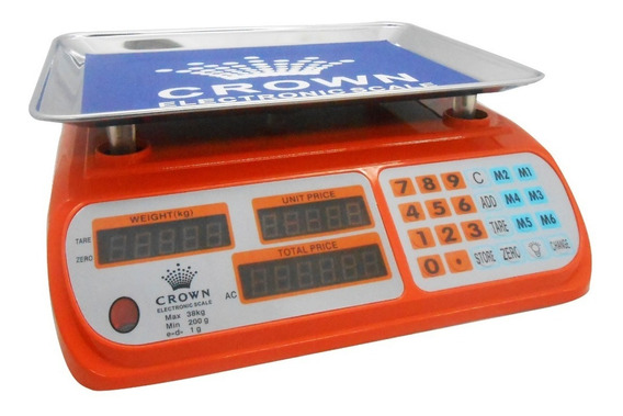 Peso Digital Balanza Electronica 38kg Crown Recargable