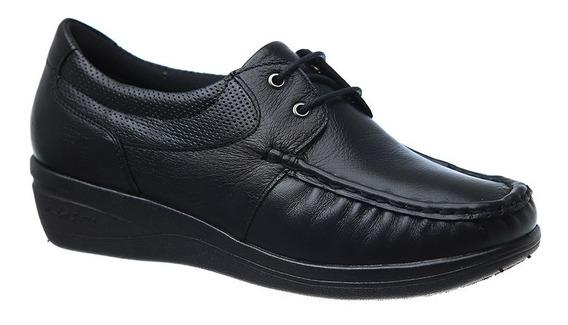 Mocassim Feminino 184 Em Couro Preto Doctor Shoes
