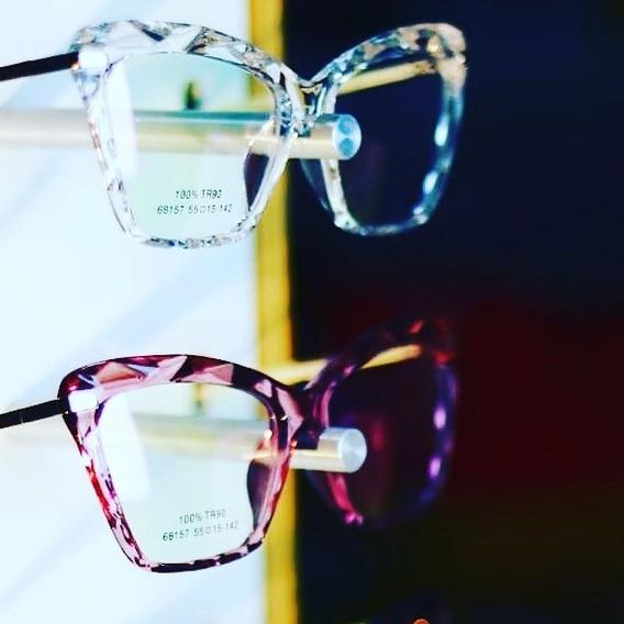 Óculos + Lente Visão Simples Com Anti Reflexo
