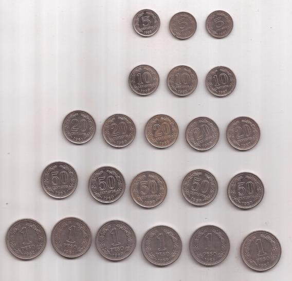 Serie Completa Monedas Libertad Incluye 20 Centavos 1961