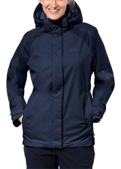 Chamarra Impermeable Jack Wolfskin The Esmeraldas Midnight