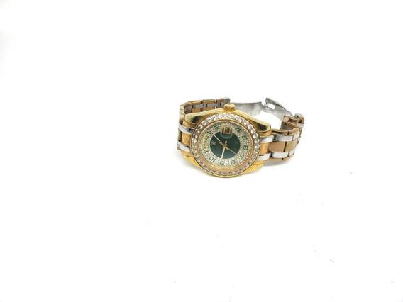 Relógio Rolex Feminino Dourado Com Strass