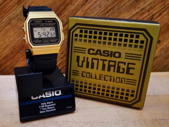 Casio Clásico F91 Vintage Dorado