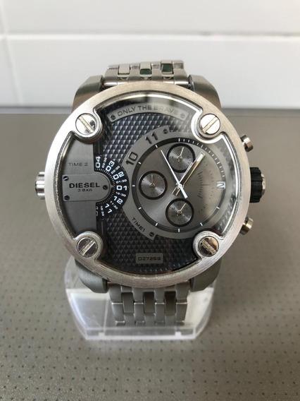 Relógio Diesel Dz7259 Prata Preto Semi Novo Em Ótimo Estado