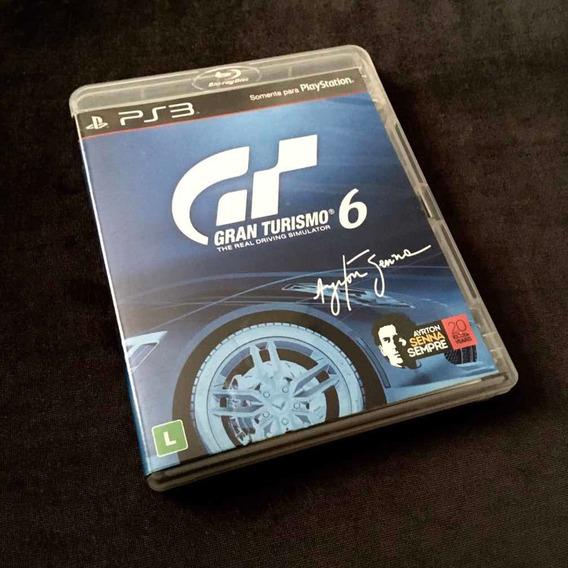 Game Jogo Gran Turismo 6 Ayrton Senna Ps3 Perfeito Estado