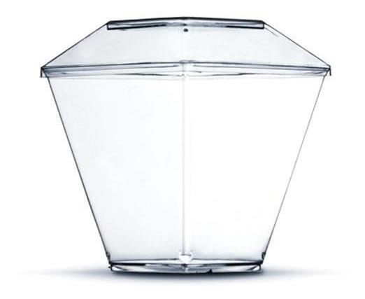 Copo Pic 101 Taça Acrílica Diamante 100ml C/ Tampa 100un