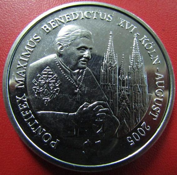 Sierra Leona Moneda 1 Dolar 2005 Unc Benedicto X V I