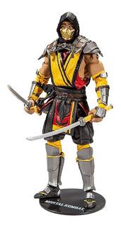 Mortal Kombat 11 Figura Scorpion Mcfarlane Robot Negro