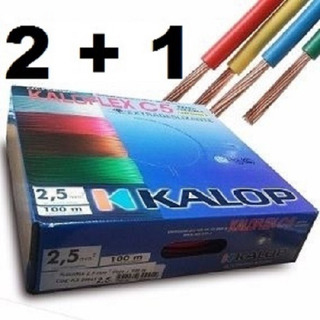 Pack Cable Unipolar Kalop Iram Cat.5 (2) De 2.5mm + (1 ) De 1.5 Eilat