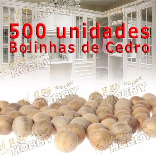 500x Bolinhas Cedro Roupas Anti Traça Mofo Bolor + 20 Sacos