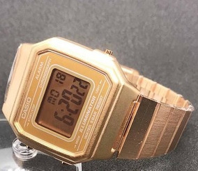 Relógio Vintage Unissex Dourado + Caixa