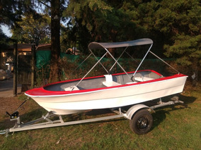Lancha Bote Della Ostia Fg-380 0hs Pesca Doble Fondo Laguna