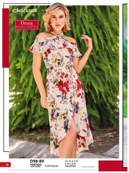 Vestido Cklass Asimetrico Multicolor 098-89