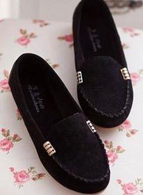 Sapato Sapatilha Mocassins Preto Em Camurça Importado