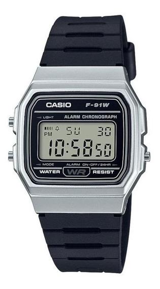 Relógio Casio Digital Vintage F-91wm-1bdf Com Nf