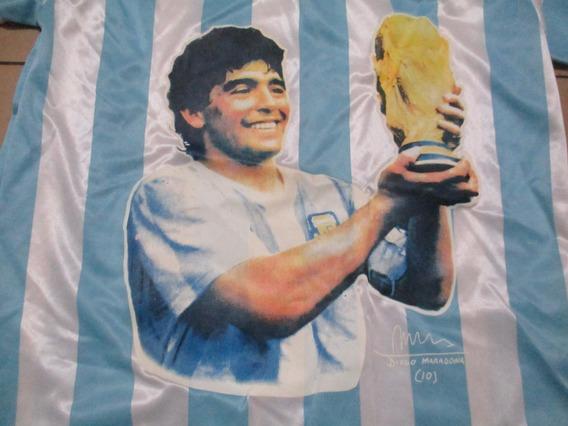 Remera , Camiseta De Argentina, Maradona Talle L ,unica!nuev