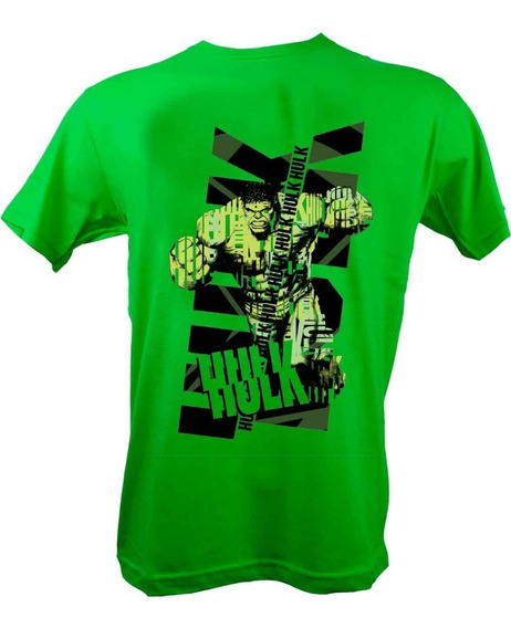 Remera, Marvel, The Incredible Hulk Verde Licencia Oficial