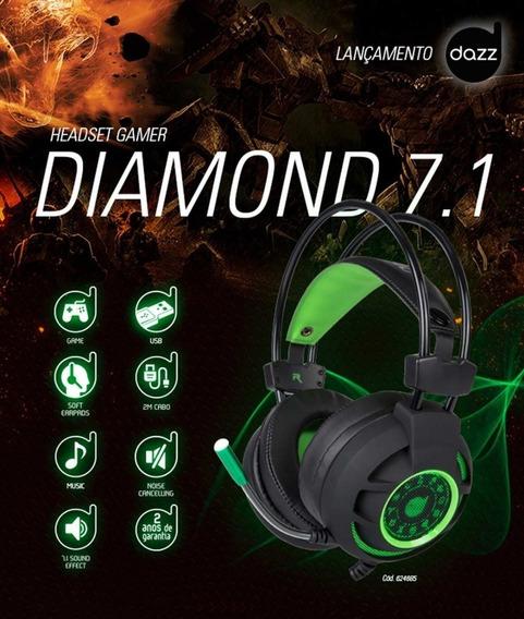 Headset Gamer Diamond 7.1 Usb 2.0 Marca Dazz