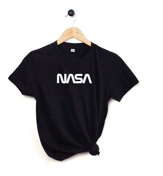 Blusa Nasa Astronauta Playera Camiseta Dama Negra Elite #666