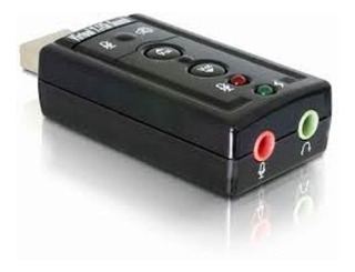 Placa De Sonido 7.1 Externa Usb 2.0 Audio In On Mini Plug