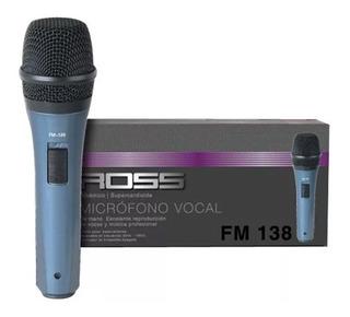 Microfono Dinamico Ross Fm138 Karaoke Voces C/cable