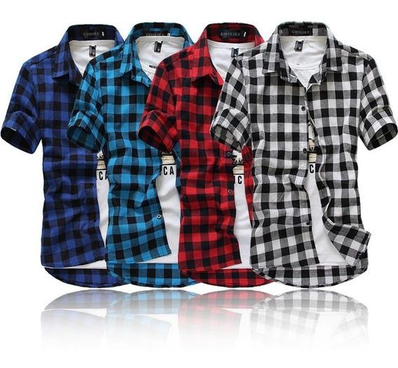 Camisa A Cuadros 4 Colores Diferentes