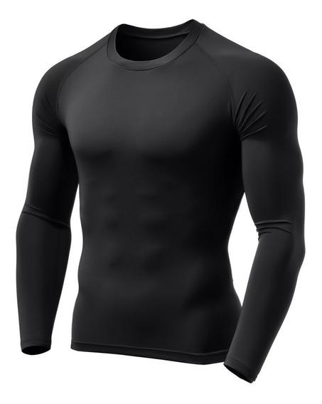 Camisa Térmica Longa Segunda Pele Proteção Uv Compressão 037