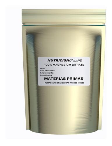 Citrato De Magnesio 500g Mejor Que Cloruro De Magnesio