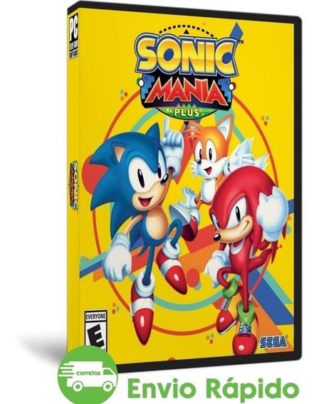 Sonic Mania Plus Pc + Encore Dlc Mídia Física Completo Dvd