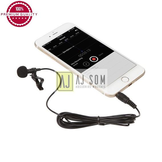 Kit Microfone Lapela P/gravação Profissional-câmera,tablet