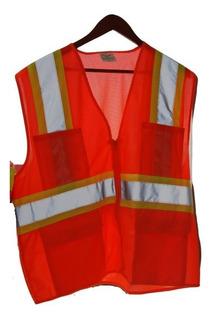 Chaleco Seguridad Reforzado Con Bolsas Naranja Truper 13475