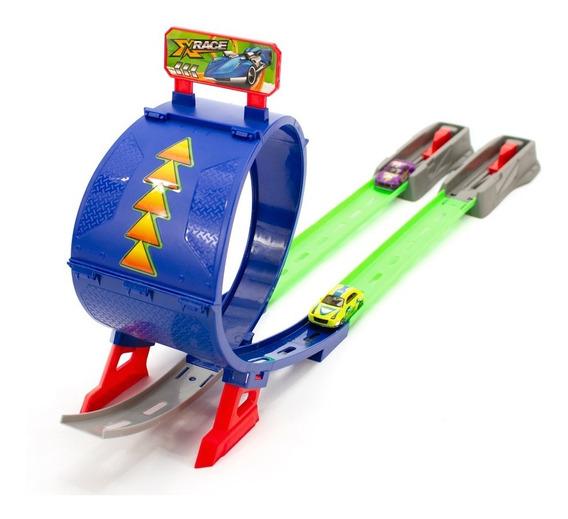 Hot Pista De Carrinhos Infantil Rotacao 360 Com Lancador