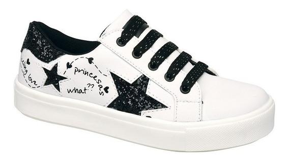 Zapatillas Plumitas Acordonado Estrellas Para Niñas