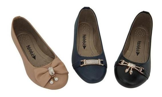 Zapatos Valerina Dama Combo 3x1 Mundo Terra 016554