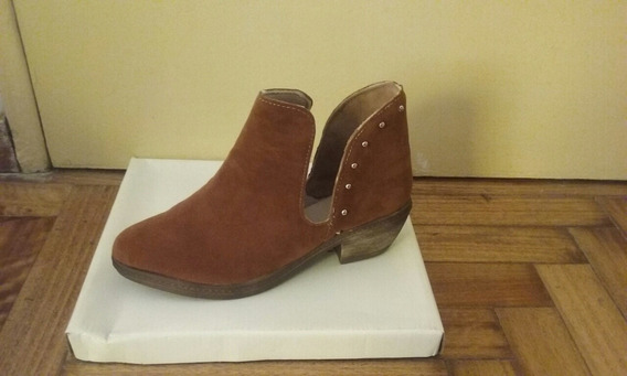 Botas Botitas Marrón Dama Zapatillas 37 Charritos Zapatos