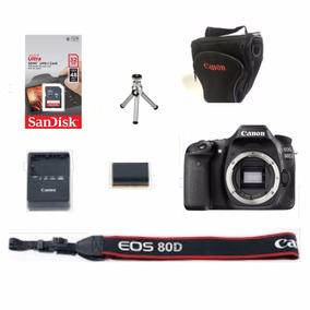 Câmera Canon Eos 80d (corpo)+ Sd32gb+ Bolsa+ Tripé