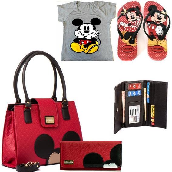Bolsa Feminina Transversal Kit Disney Frete Grátis Para Elas