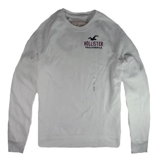 Moletom Casaco Abercrombie Hollister - Branco Logo - Bc3