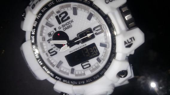 Relógio G-shock Mudmaster Casio Branco Novo Prova D