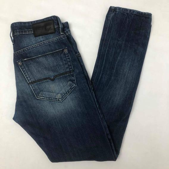 Jeans Hombre Talle 30 Bowen 40 De Cintura Azul Excelente