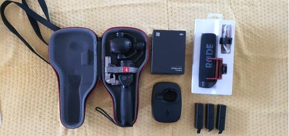 Dji Osmo Plus 4k + Acessórios + 3 Baterias +rode Videomic Go