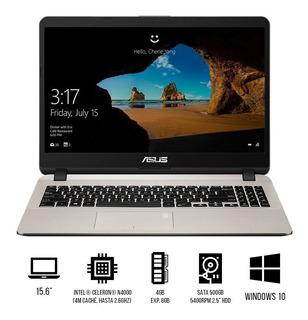 Portátil Asus De 15.6¿ Intel Celeron N4000, 4gb, 500gb, Win