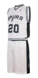 Conjunto Basket Infantil Spurs Nba Camiseta Short Cuotas