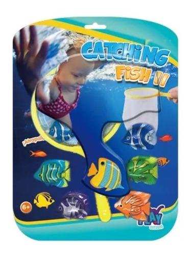 Buzeo Pileta Peces Agua Catching Fish 2 Medio Mund Ikout0007